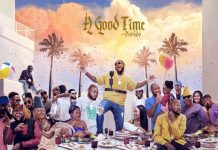 """Front and Back Cover of """"A Good Time"""" By Davido"""
