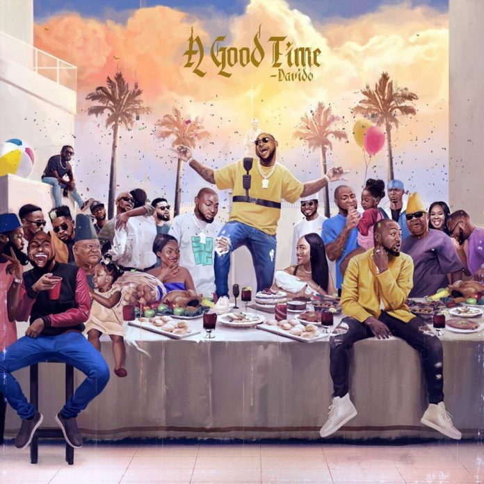 "Front and Back Cover of ""A Good Time"" By Davido"