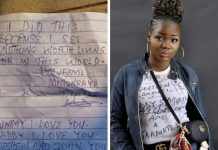 Female NYSC member commits suicide, leaves Suicides Note