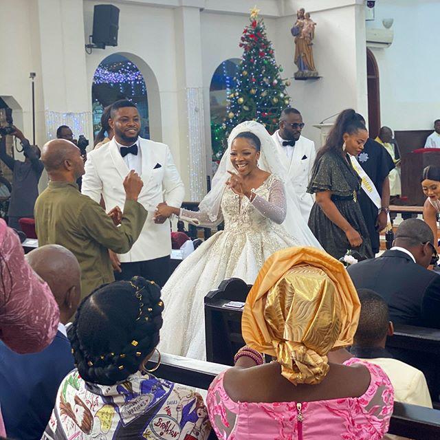 Wedding Event: Sandra Ikeji Wedding outfits with 200 Record Bridesmaids