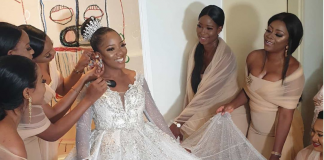 Wedding Event: Sandra Ikeji Wedding outfits with 200 Record Bridesmaids