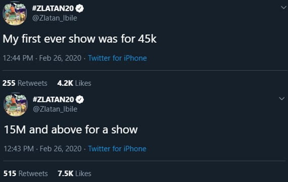 I was Paid N45k from my first show, now receiving N15m and above – Zlatan Ibile