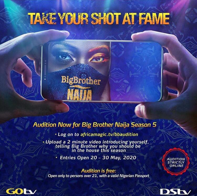 Big Brother Naija 2020 (Season 5) Online Audition on Africa Magic Website.