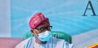 Gov.Sanwo-Olu in high spirit, responding to COVID-19 treatment