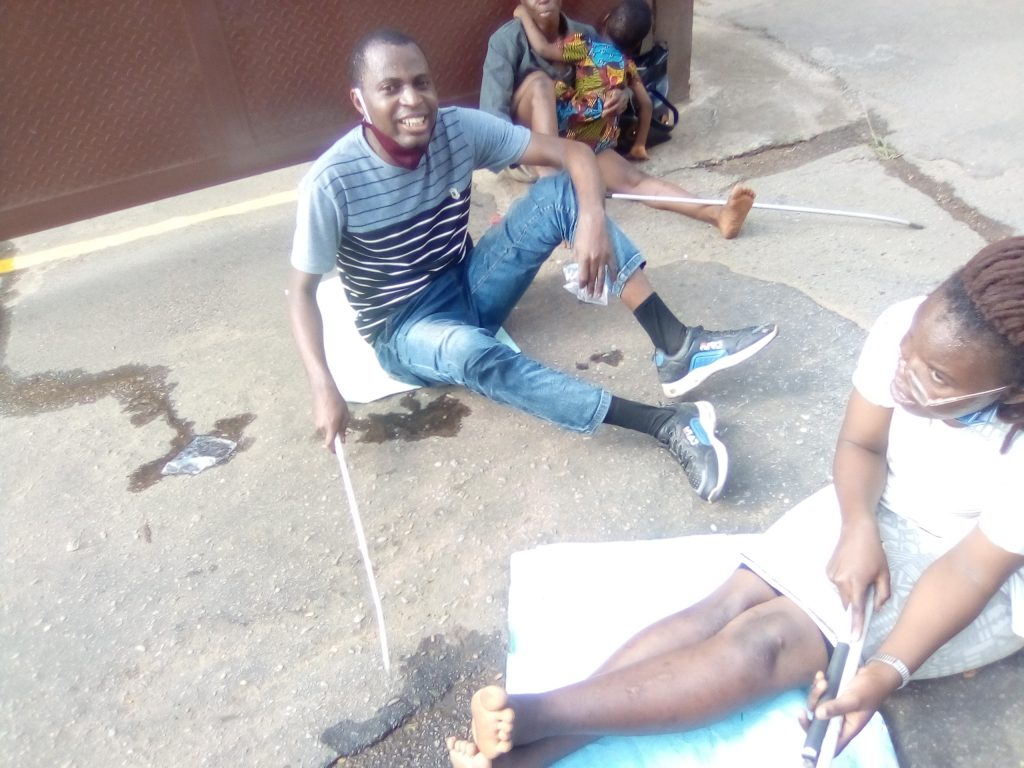 Physically challenged Persons storm Oyo government secretariat to join Protest