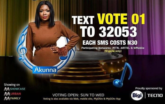 How to Vote for Akunna in Nigerian Idol 2021 Season 6