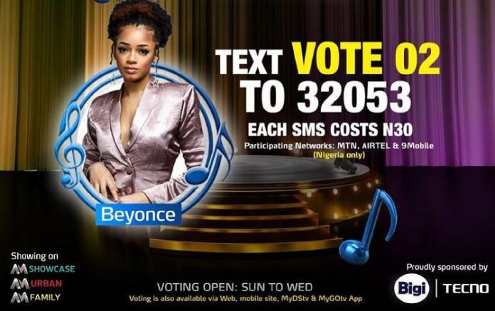 How to Vote for Beyonce in Nigerian Idol 2021 Season 6