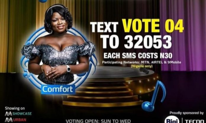 How to Vote for Comfort in Nigerian Idol 2021 Season 6