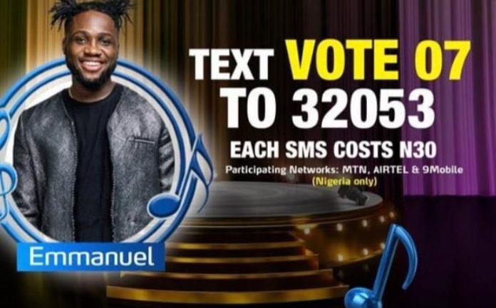 How to Vote for Emmanuel in Nigerian Idol 2021 Season 6