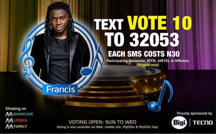 How to Vote for Francis in Nigerian Idol 2021 Season 6