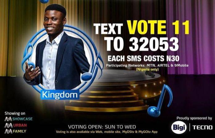 How to Vote for Kingdom in Nigerian Idol 2021 Season 6